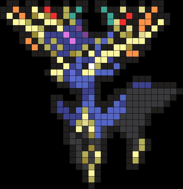 Xerneas Pokemon Sprite Perler Bead Pattern Bead Sprite