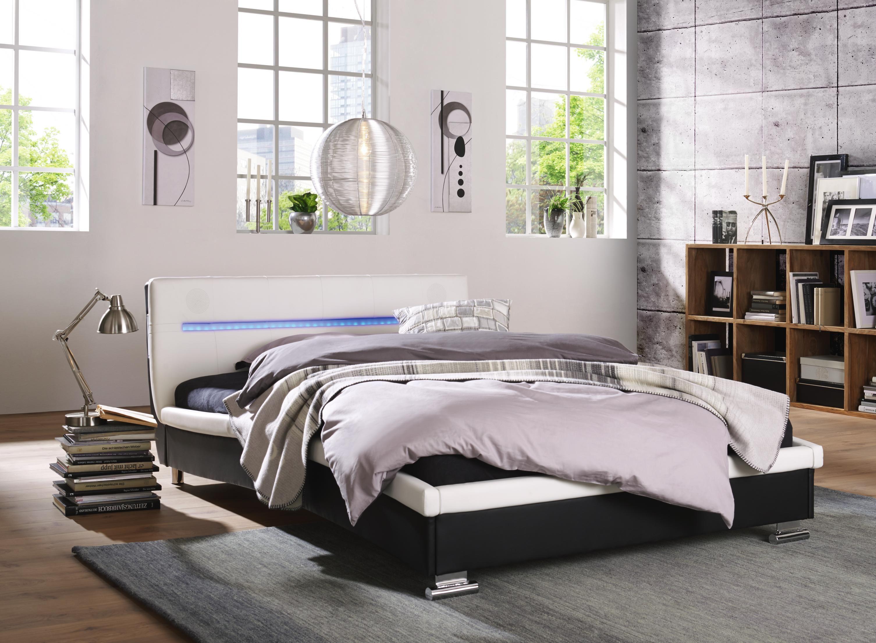 Polsterbett Sound Von Carryhome Mit Lautsprechern Und Beleuchtung Schlafzimmer Set Bett Polsterbett