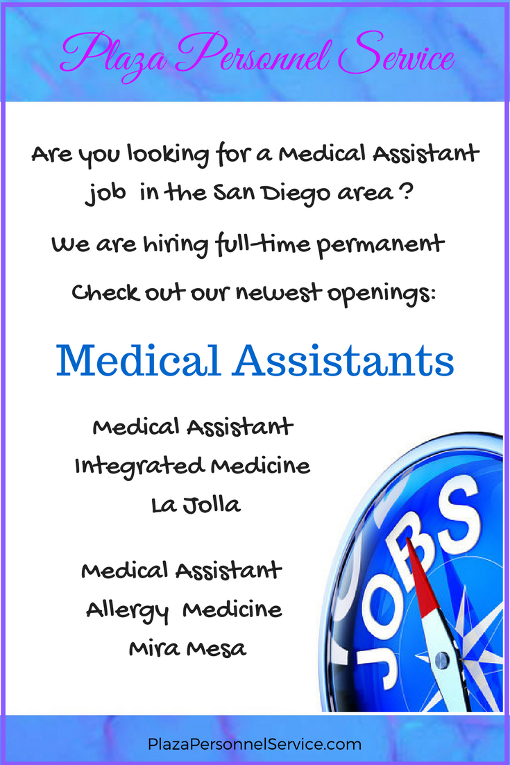 hiring Medical Assistant for full-time permanent jobs in San Diego ...