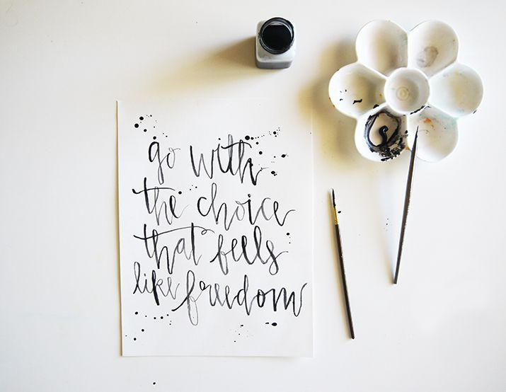 Recent calligraphy prints projects lettering