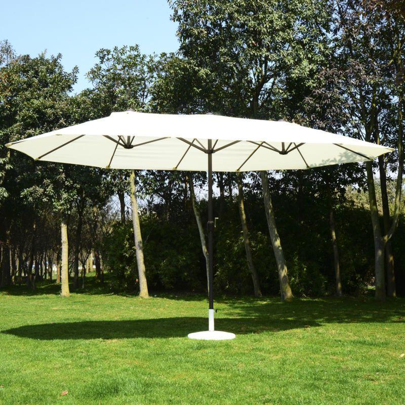 Outsunny 15ft Patio Umbrella Outdoor Sun Shade Canopy