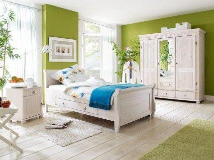 Schlafzimmer Kiefer massiv im Landhausstil Helsinki - 222-999