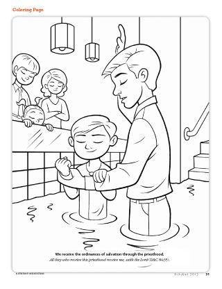 To Have The Kids Color While They Wait For The Baptized To Come