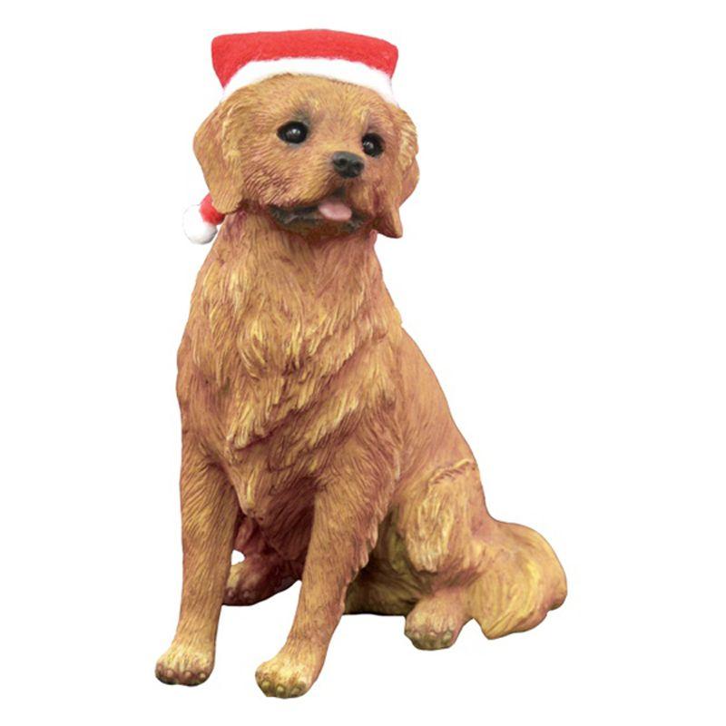 Golden Retriever Sitting Christmas Ornament In 2020 Top Dog