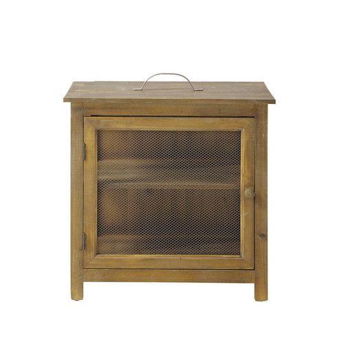 garde manger ouverture gauche en bois l 51 cm augustine d co r tro vintage pinterest. Black Bedroom Furniture Sets. Home Design Ideas