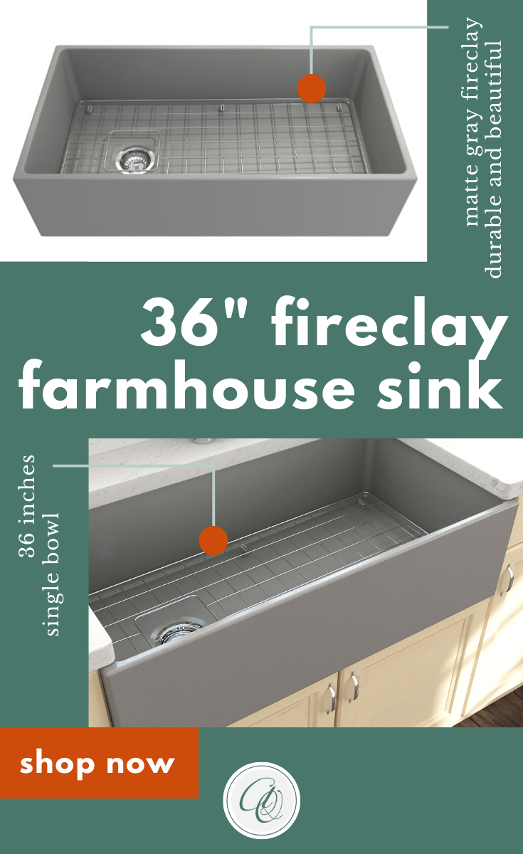 Bocchi Contempo 36 Matte Gray Fireclay Farmhouse Sink Single Bowl With Free Grid In 2020 Fireclay Farmhouse Sink Farmhouse Sink Farmhouse Sink Kitchen