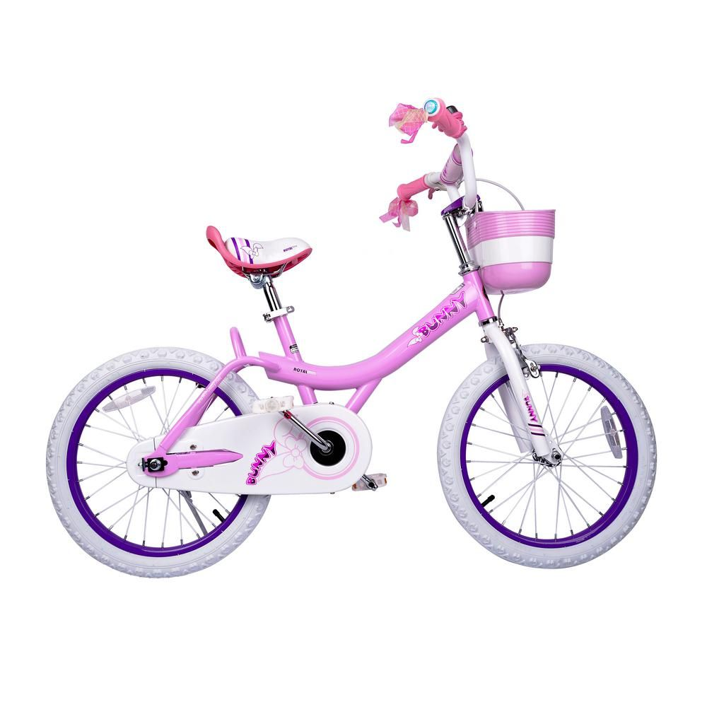 10c0bef1c9b Bunny Girl's Bike, 18 inch wheels with basket and training wheels training  wheels, gifts for kids, girls' bicycles, Pink, Reds/Pinks