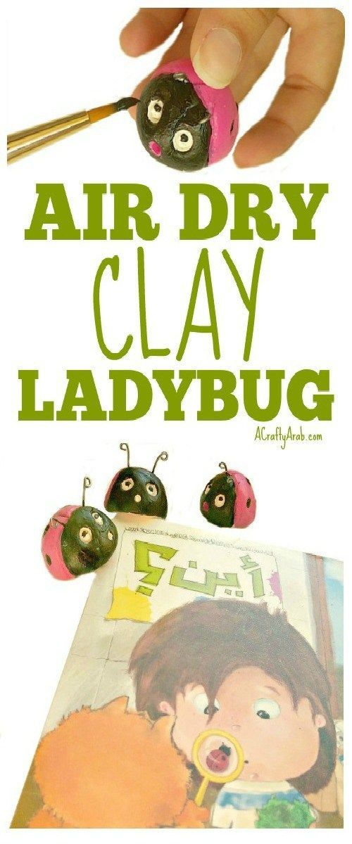 A Crafty Arab: Air Dry Clay Ladybug {Tutorial} Plus Where? {Review}. I was recently sent the book Ayn? (Where? in Arabic) by Aya Khairy and Rania El Turk, from Maktabatee.   This little board book follows the story of a boy that discovers a ladybug on a h
