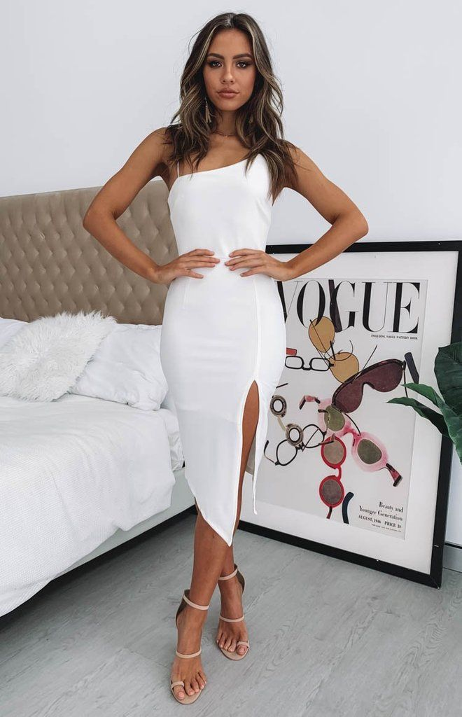 Joceline Midi Dress White