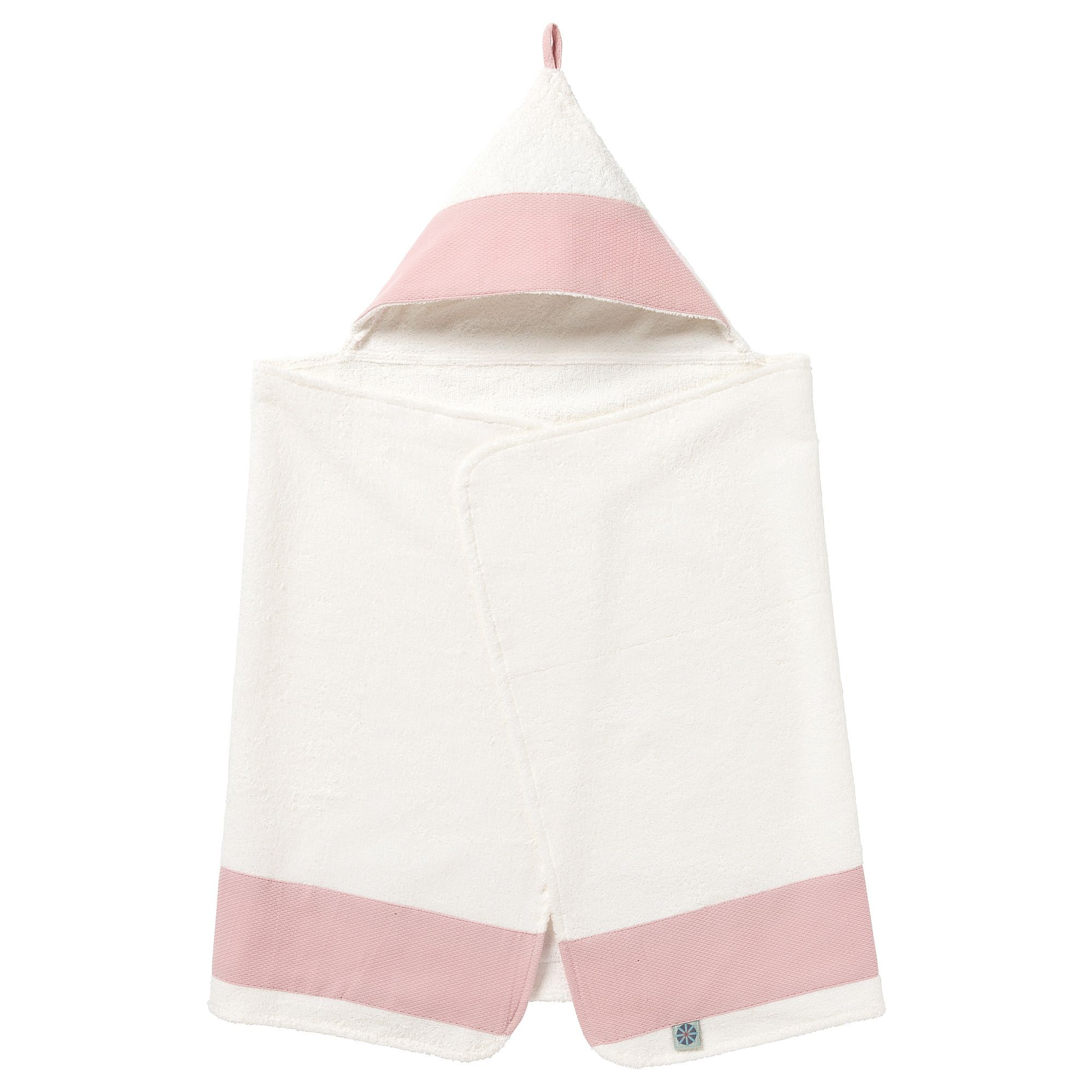 Ikea Tillgiven White Pink Baby Towel With Hood Baby Towel Ikea