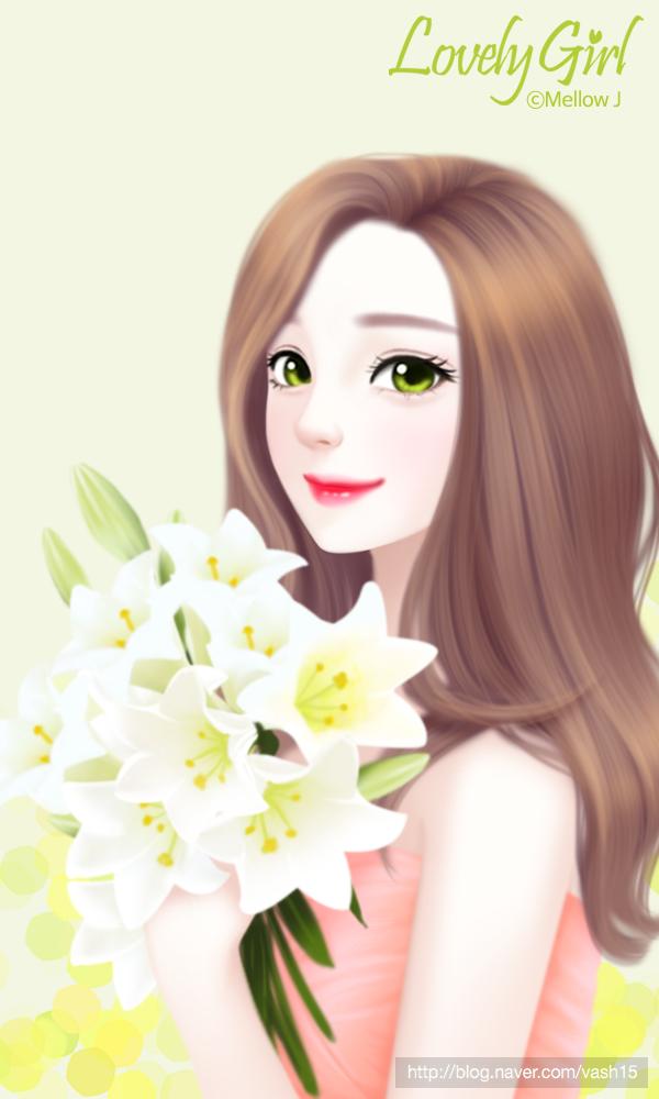 6번째 이미지 Seni digital, Gambar, Anime gadis cantik