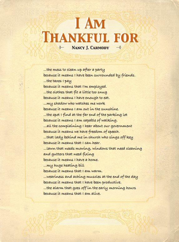 Thanksgiving Inspirational Poems