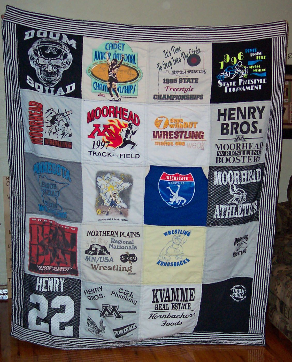 Mhs Spuds Wrestling T Shirt Memory Quilt 2013 With Images