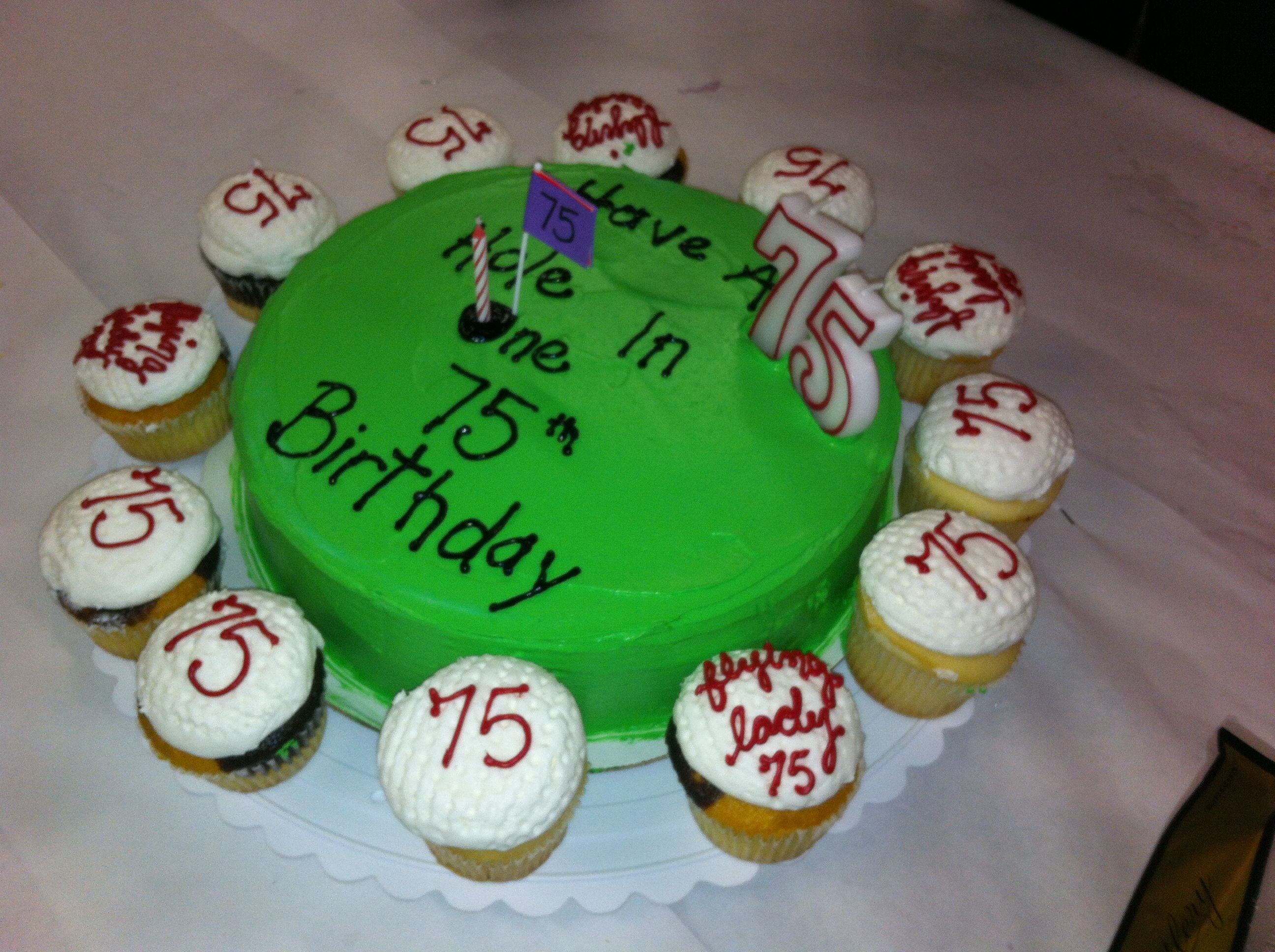 Simple 75th Birthday Cake Idea Moms Pinterest