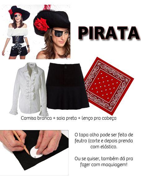 Fantasia Pirata Improvisada Feminina Pesquisa Google Fantasias
