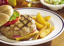 Tired of the plain 'ol beef burger? Switch out ground beef for Farmland's ground pork and make yourself a California Bacon Pork Burger.