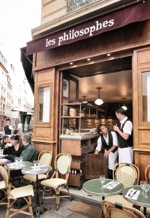 Paris, France - Les Philosophes.