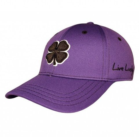 ee46fc18386 Black Clover Premium Fitted Cap - Black Clover on Purple by Black Clover.  Buy it   ReadyGolf.com