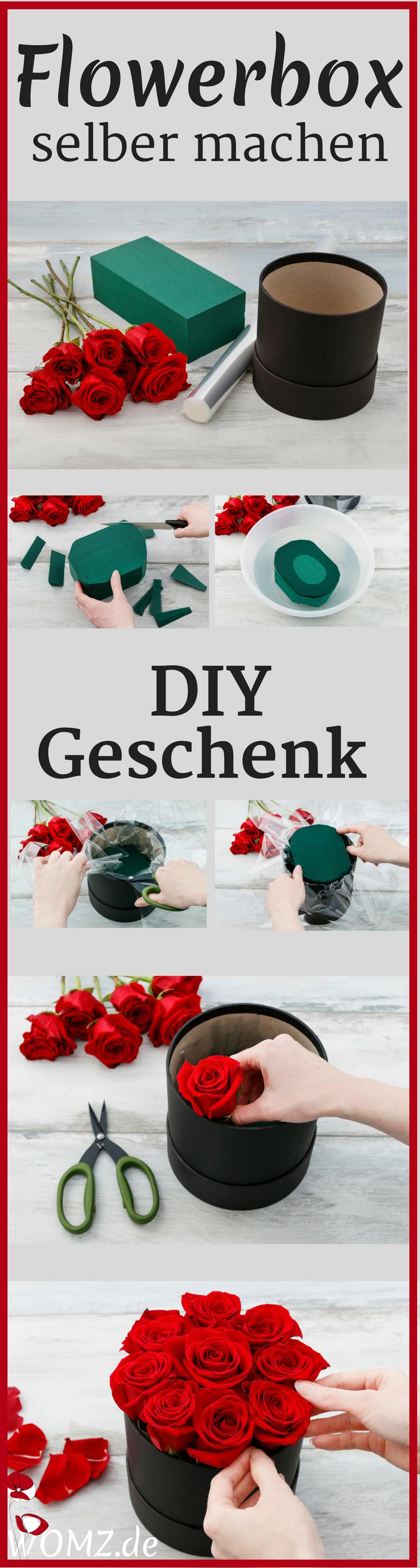 Dieses DIY Geschenk ist wirklich einmalig schön Eine Flowerbox selber machen geht ganz einfach und schnell Eine tolle Geschenkidee für Muttertag