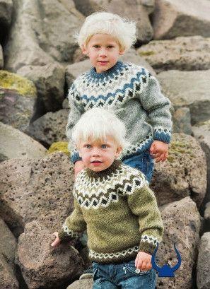 Istex Kambur Green or Grey - knitting kit - Wool Knitting Kit ...