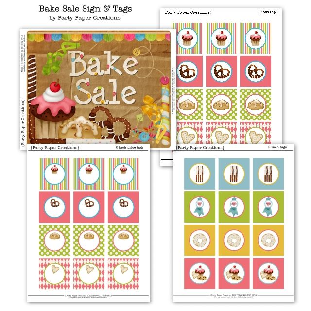 It is a photo of Fabulous Free Printable Bake Sale Signs