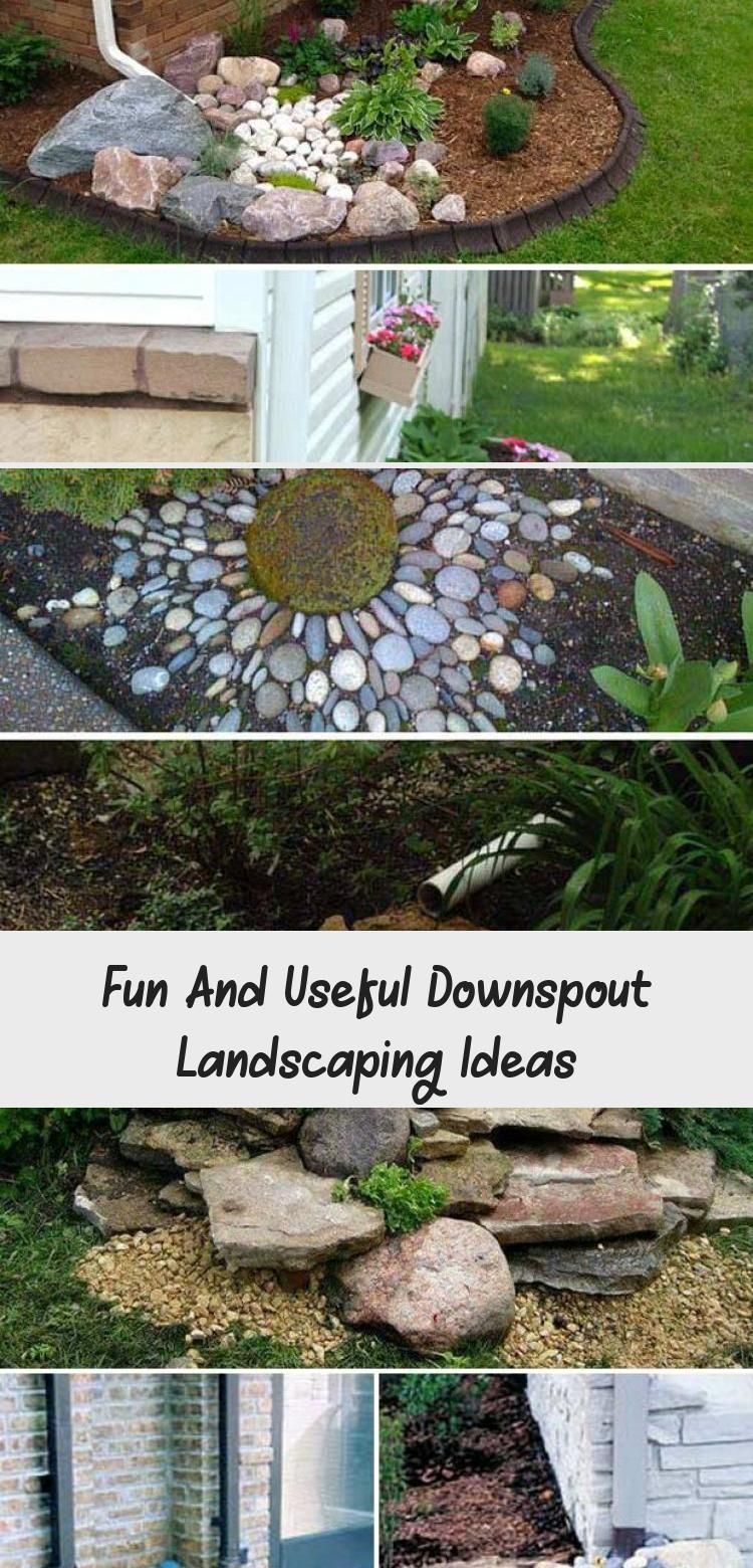 Fun And Useful Downspout Landscaping Ideas  Pinokyo  Design a Small Side Yard Garden Under The Downspout