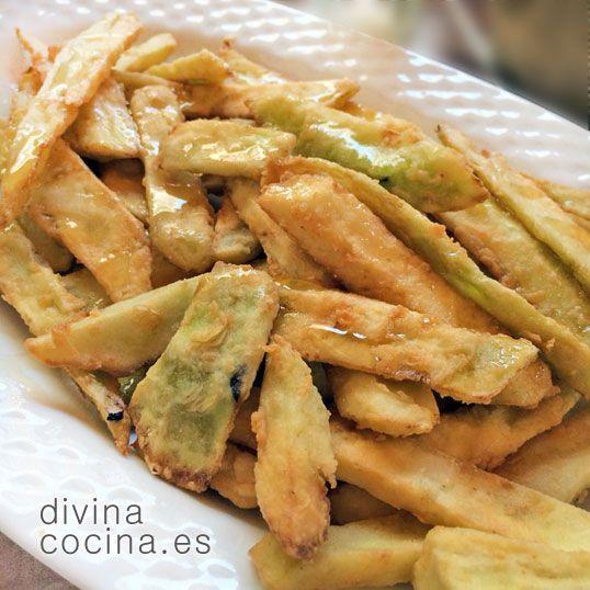 Receta De Berenjenas Fritas Con Miel Food Recetas Recetas Con Berenjenas Y Comidas Con Berenjenas