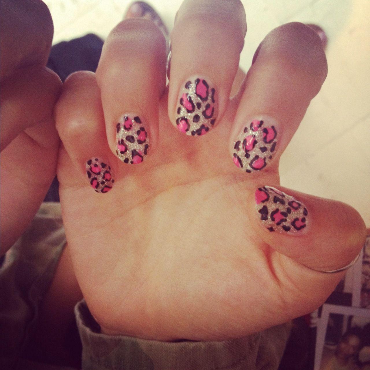Leopard Print Nails   Leopard print nails, Cool nail
