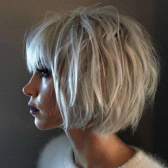 Möglichkeiten kurzes Haar mit Pony für einen frischen neuen Look zu tragen  Frisuren 50 Möglichkeiten kurzes Haar mit Pony für einen frischen neuen Lo...
