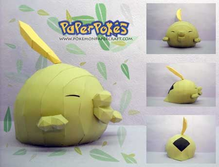 316 / GULPIN - Pokémon Papercraft  Name:  Gulpin  Type:  Poison  Species:  Stomach Pokémon  Height:  0.4 m (1′04″)  Weight:  10.3 kg (22....