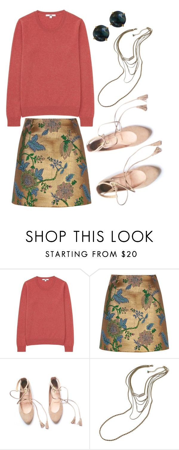 """Cashmere"" by beetlescarab ❤ liked on Polyvore featuring Uniqlo, River Island, Hollister Co., Sweater, metallic and cashmere"