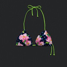 Womens Floral Triangle Swim Top