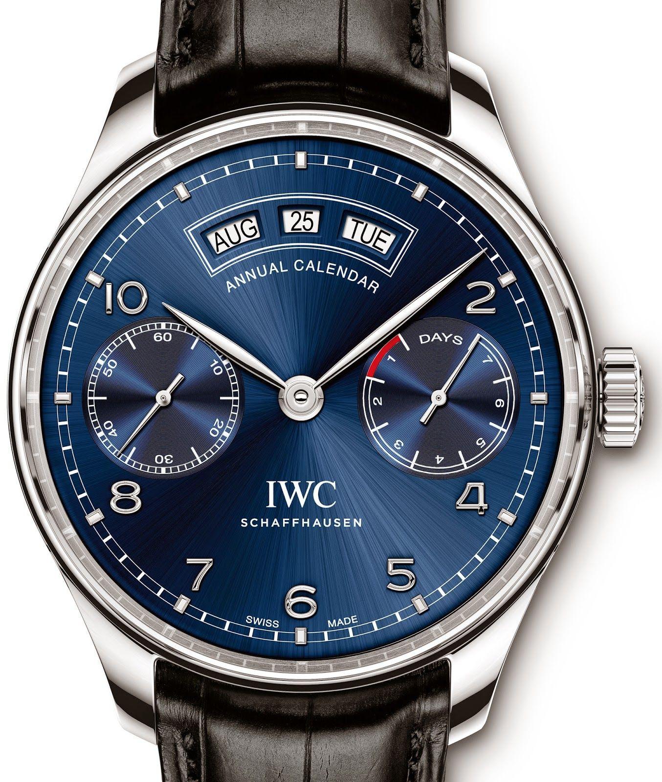 IWC Portugieser Annual Calendar Watch Review.  #IWC #luxury #watches
