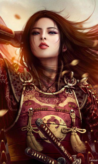 Shiba Tsukimi By Mariowibisono On Deviantart Detail Female Samurai Warrior Woman Fantasy Girl