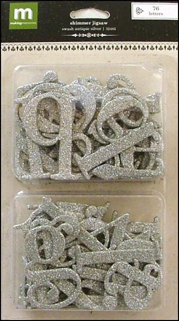 Making Memories Shimmer Jigsaw Alphabet Swash by aBeesCreations, $2.75