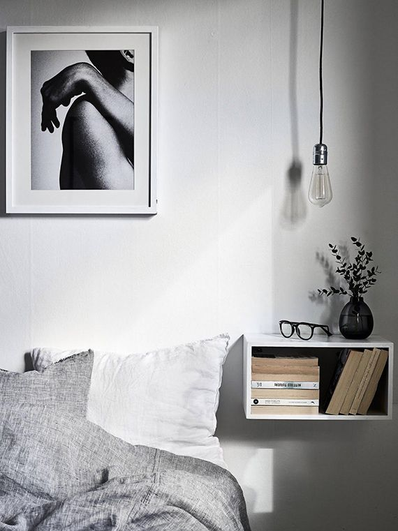 The Floating Nightstand Stadshem Bedroom Home Decor