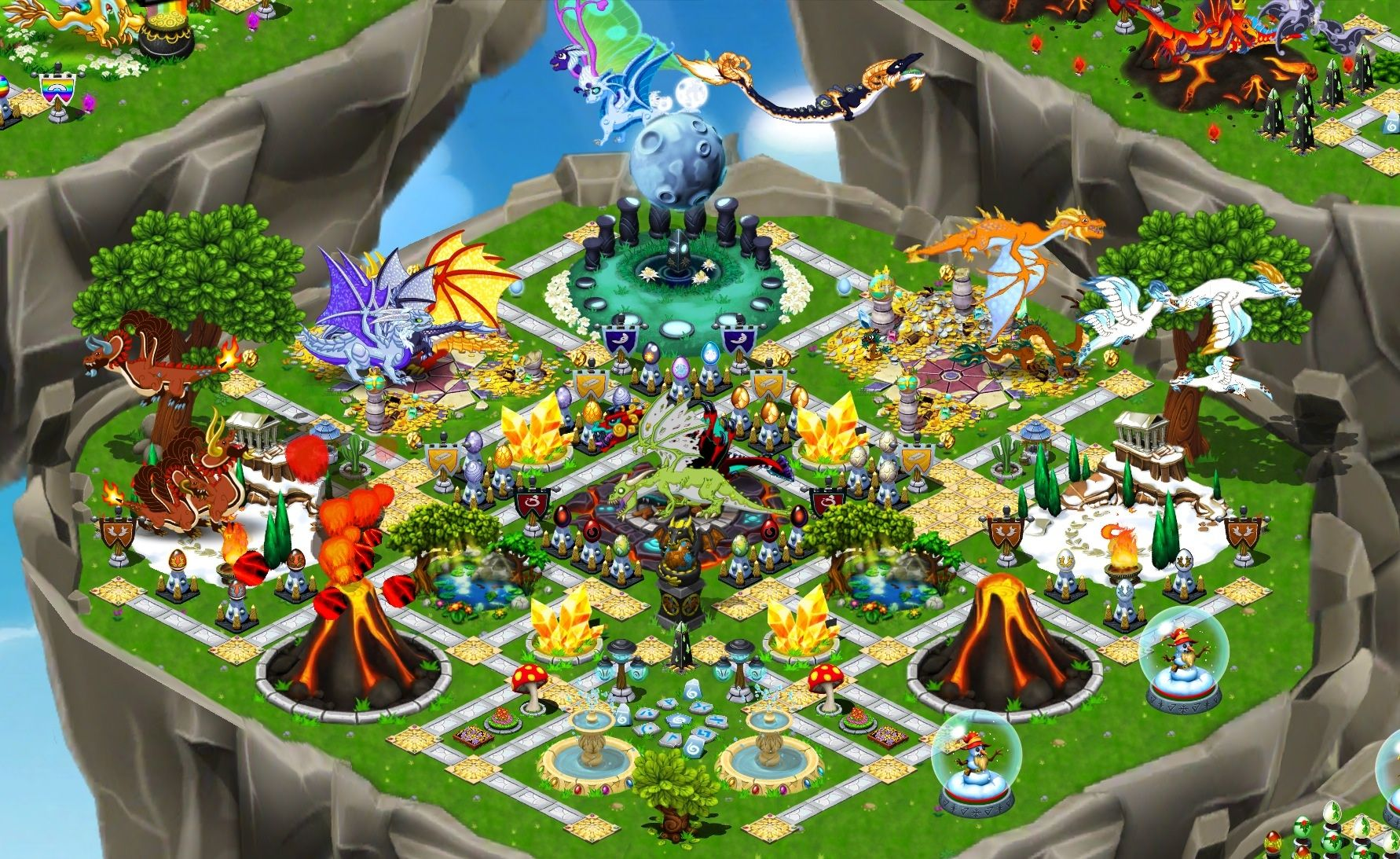 DragonVale Breeding Chart | All Dragonvale Parks | Park, Dungeons and dragons, Table decorations