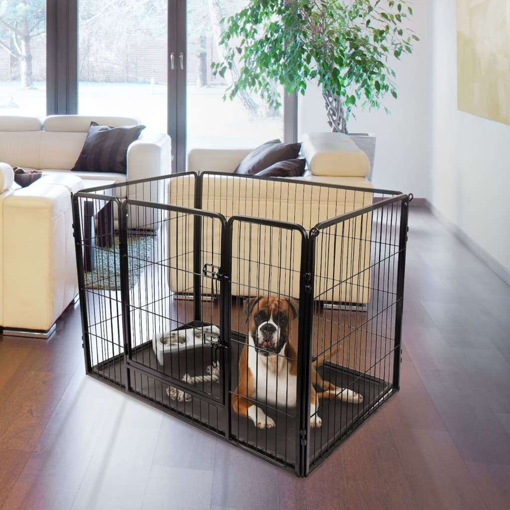 FLAMINGO Kazan L size black dog kennel 122 x 75 x 90 …