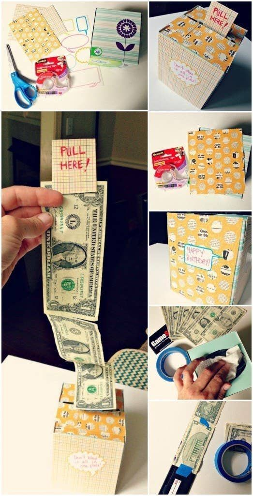 21 überraschend lustige Möglichkeiten, Bargeld als Geschenk zu verschenken #hjemmelavedegaver