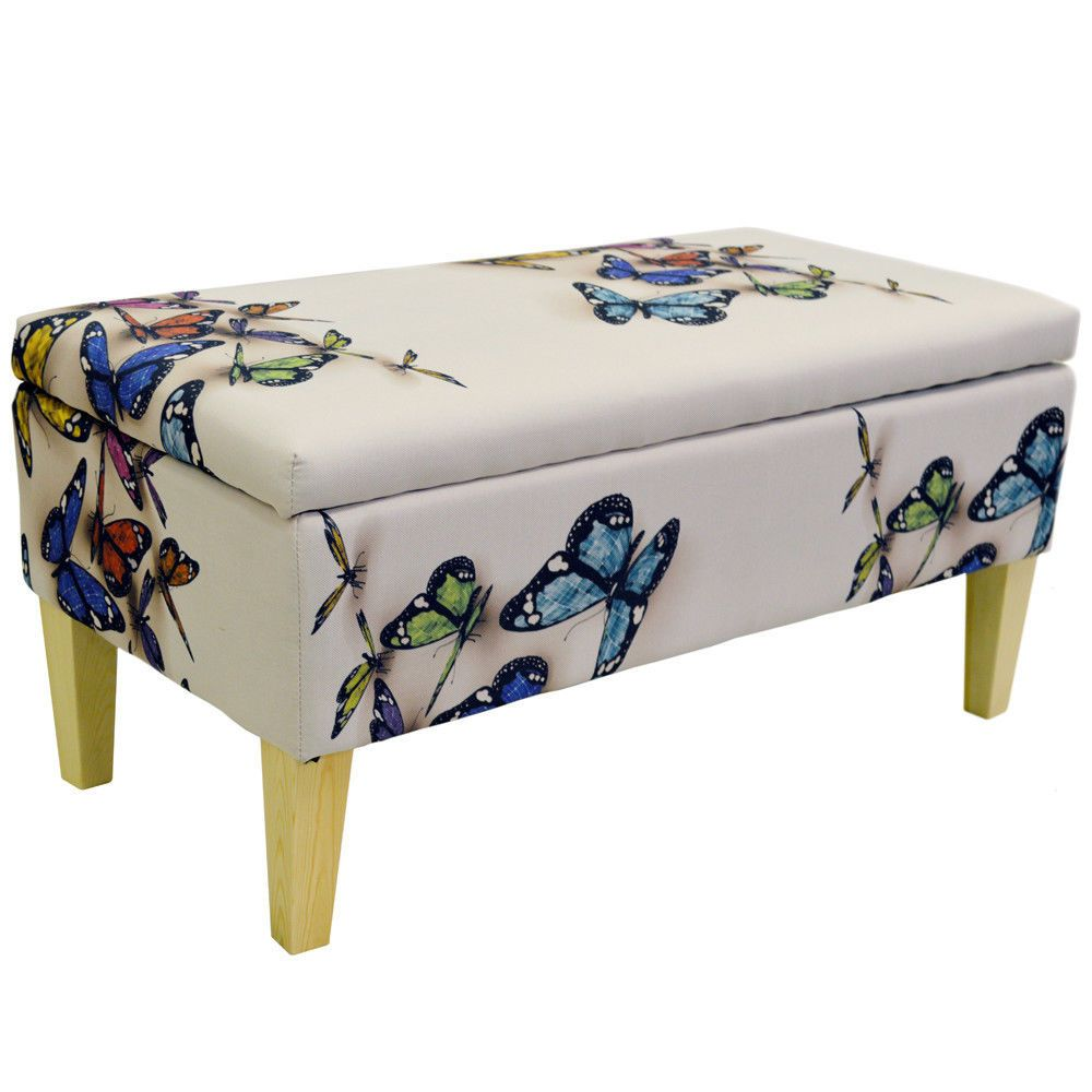 Storage Ottoman Bench Stool Seat Blanket Box Vintage Trunk Bedroom Organiser  sc 1 st  Pinterest : bedroom stools and benches - islam-shia.org