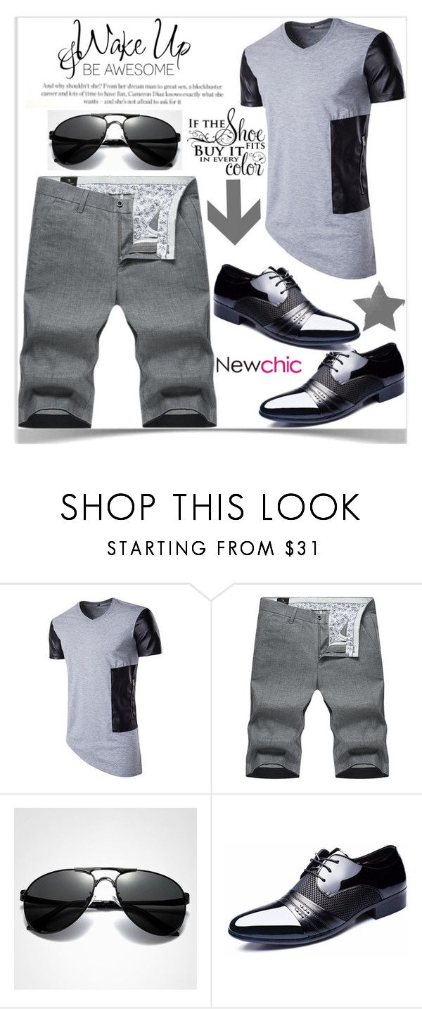 """""""Newchic"""" by kiveric-damira ❤ liked on Polyvore featuring WALL, men's fashion and menswear"""