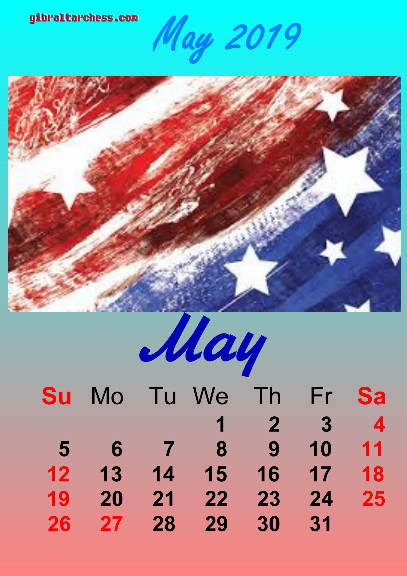 May 2019 Calendar Memorial Day 2 May 2019 Holidays Calendar Memorial Day | Calendar Template