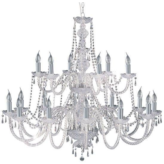 Hale Georgian Style Chrome Crystal Chandelier Ceiling Light PendantPendant