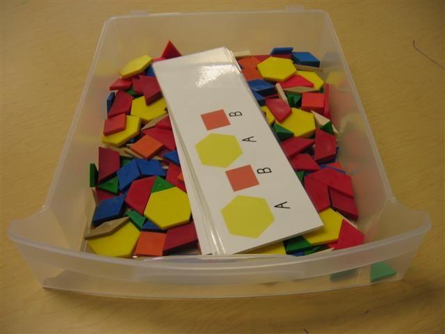 tangram pattern center  math stations math patterns