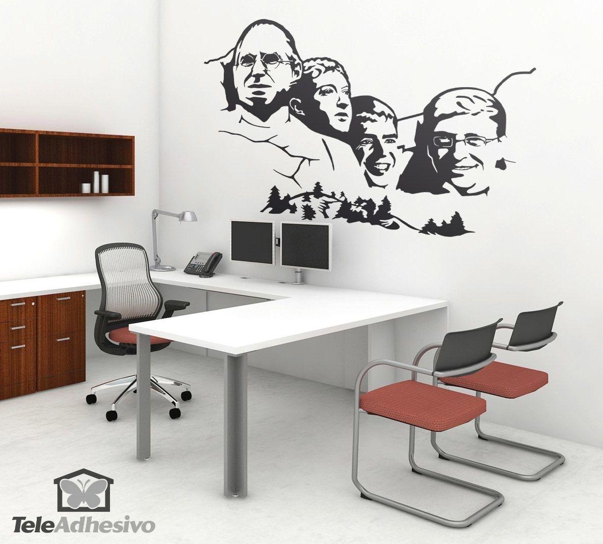 Vinilos Decorativos oficina: Monte Rushmore Geek #decoración ...