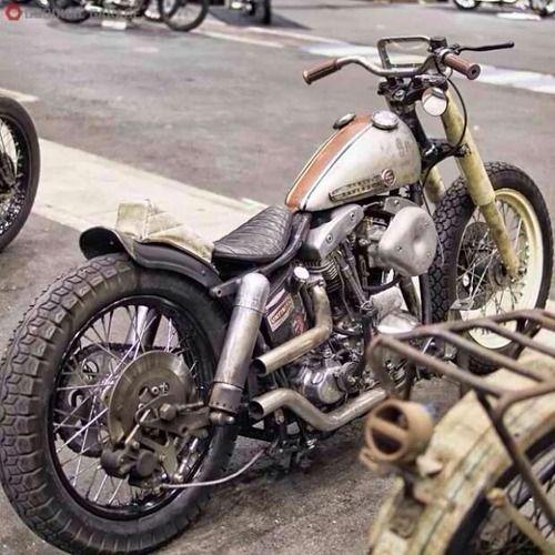 Shovelhead Swingarm Custom With Tiny Windshield And Bare Metal - Vinyl stripes for motorcyclespopular motorcycle tank stripesbuy cheap motorcycle tank stripes