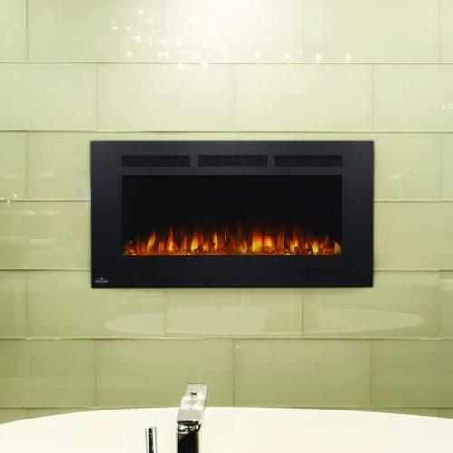 Napoleon Allure Phantom 42-Inch Linear Wall Mount Electric Fireplace ...