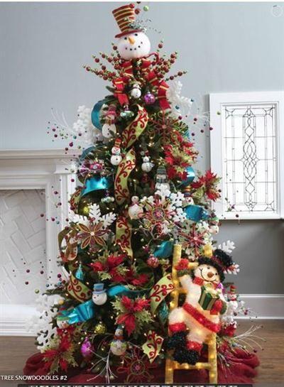 Fotos lindos rboles de navidad decorados christmas tree snowman and navidad - Imagenes de arboles de navidad decorados ...