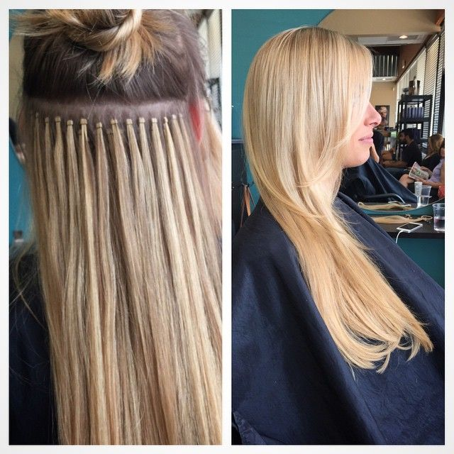 We Did Maintenance On Her Micro Link Hairextensions This Type Of