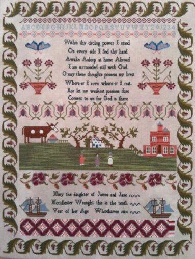 Mary Mccallester 1824 Cross Stitch Patterns Stitch Patterns Cross Stitch